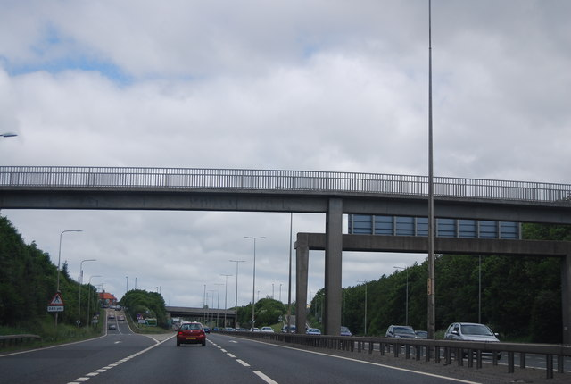 Bridge over the A1, East Denton