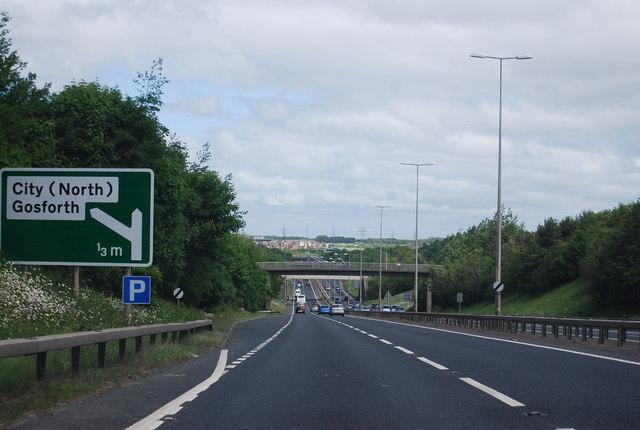A1 near Gosforth