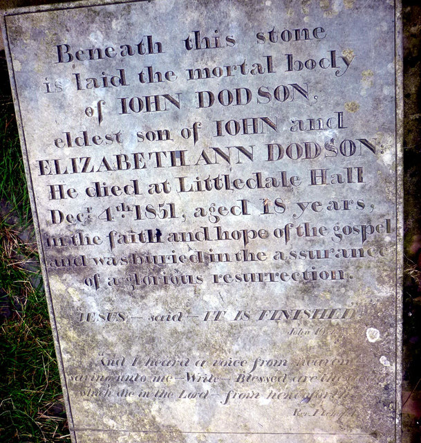 The Dodson grave slab, Littledale
