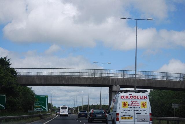 Footbridge over the A1