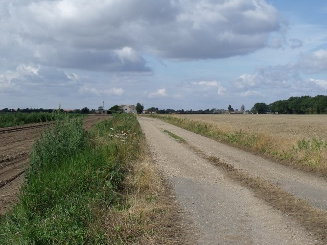 Track to Moor Farm, off Langrick road