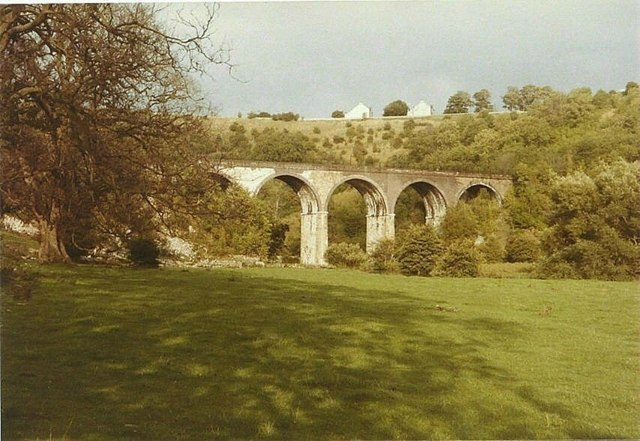 Monsal Head Railway Viaduct in 1984