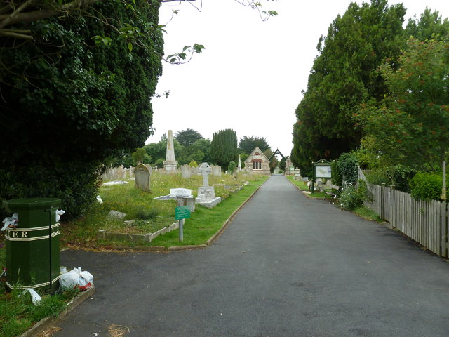 Looking into Ryde Cemetery from West Street
