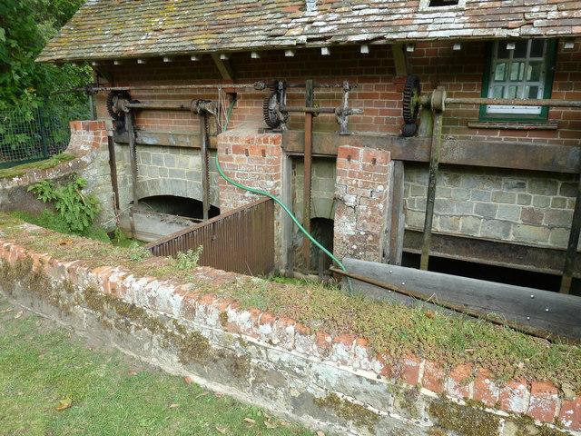 Sluice gates at Stedham Mill