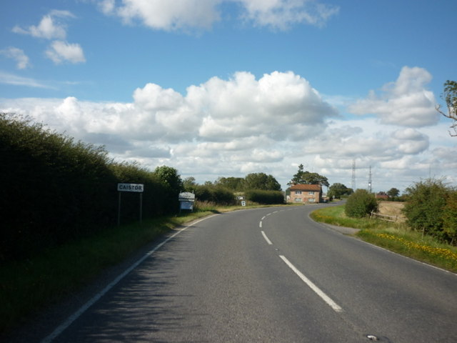 Entering Caistor, Lincolnshire