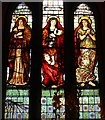 NM8603 : Faith, Hope & Charity window, Ford Kirk by Bob Embleton