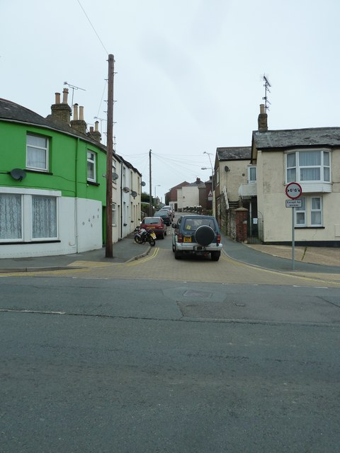 Looking from St John's Road into Warwick Street