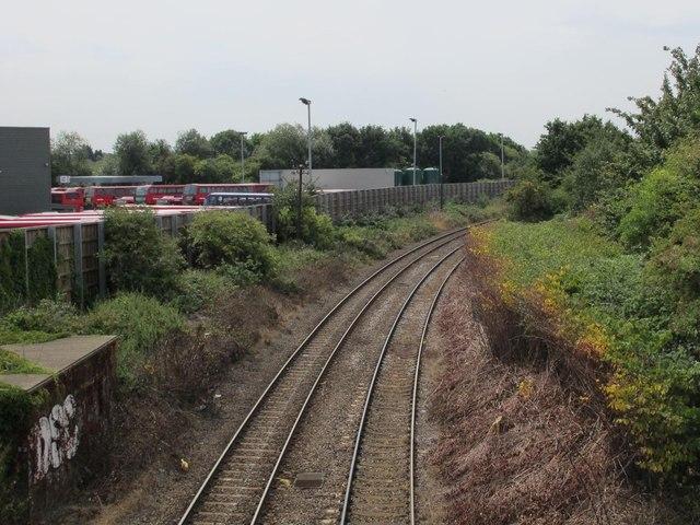 Railway lines west of Edgware Road, NW2