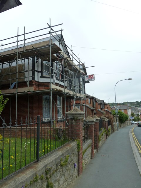 Scaffolding in St John's Road
