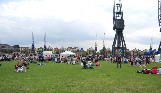 British Gas Swim finishing area