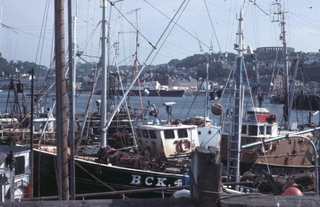 Trawlers at Oban in 1976