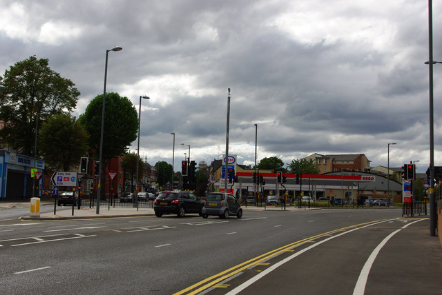 Junction of Bristol Road and Aston Webb Boulevard, Bournbrook