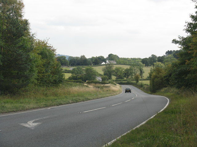 A456 from the entrance to Gybhouse Farm