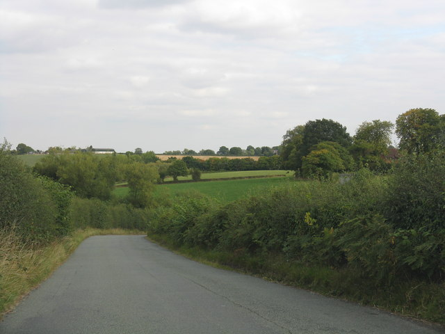 Rolling countryside from Rectory Lane