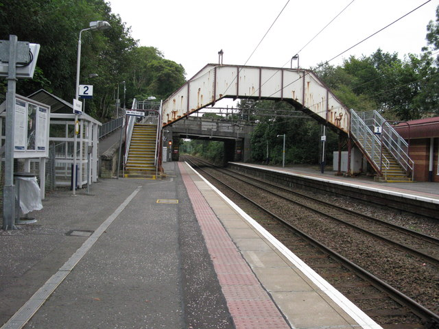 Bearsden railway station, looking ENE