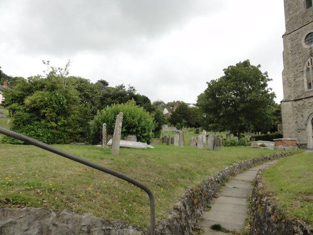 Hythe, Oak Walk, Graveyard at St Leonard's Church