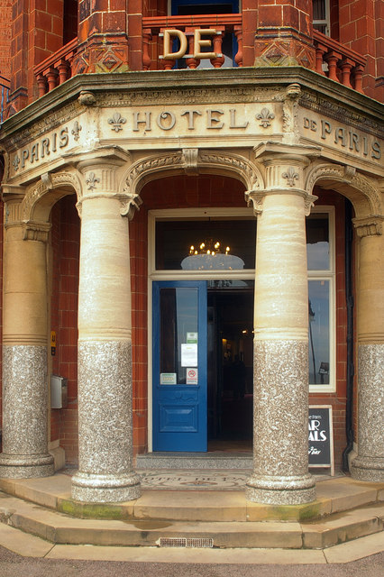 Hotel de Paris, Cromer: seafront entrance