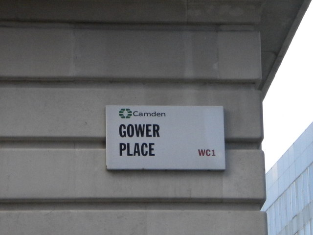 Street sign, Gower Place WC1