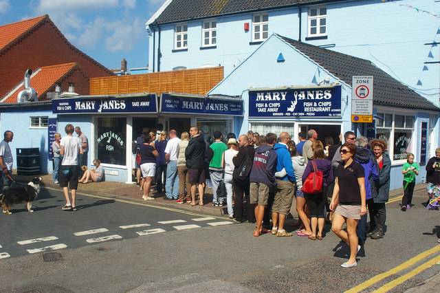 Fish and chip shop, Cromer