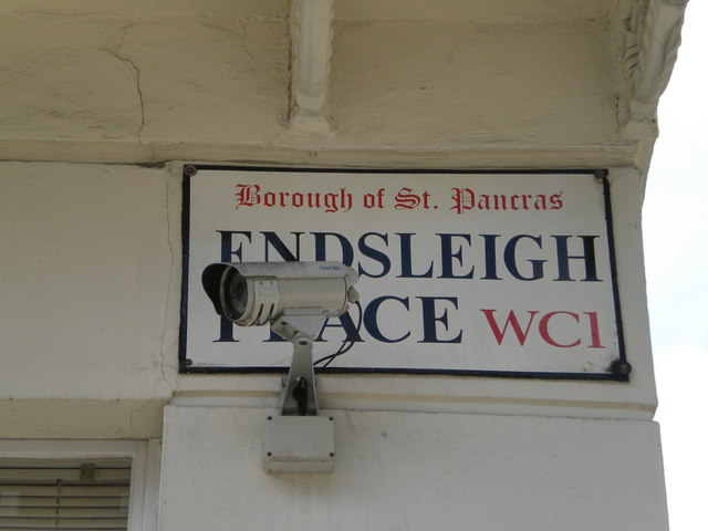 Street sign, Endsleigh Place WC1
