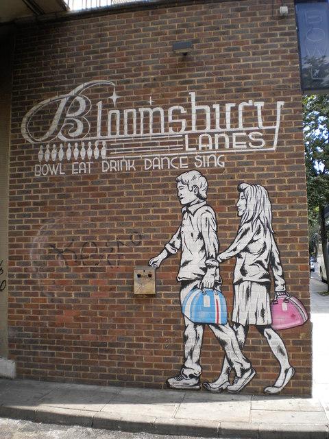 Bloomsbury Lanes advertising, Bedford Way WC1