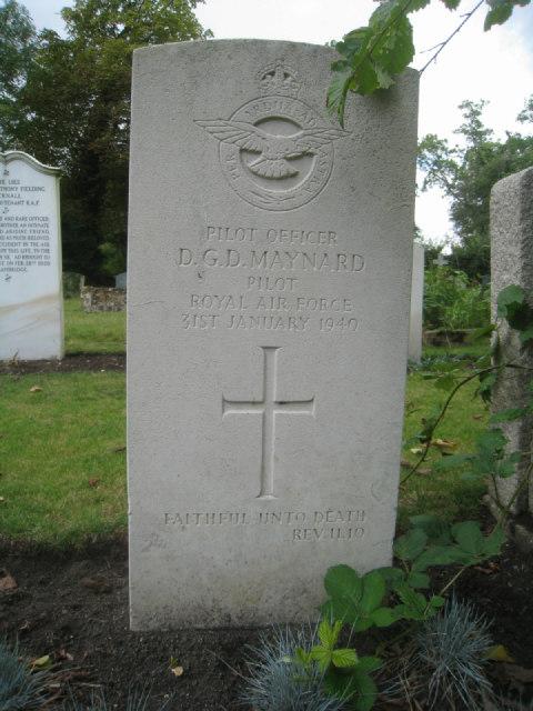 Pilot Officer D.G.D. Maynard