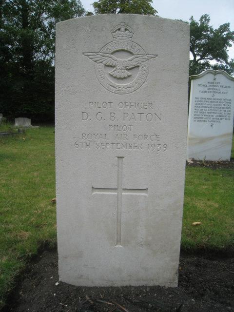 Pilot Officer D.G.B. Paton