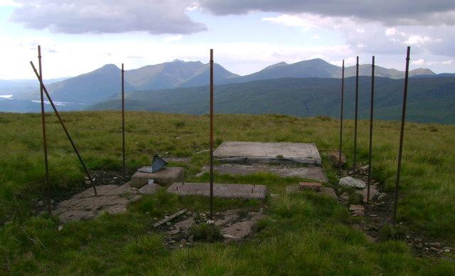 Remains of communication mast