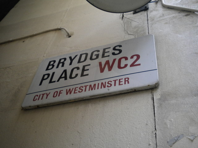 Street sign, Brydges Place WC2