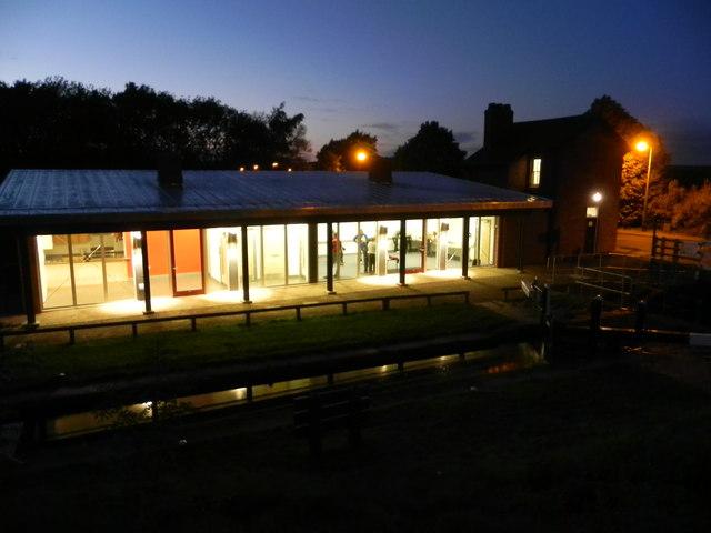 Hollingwood Hub by night
