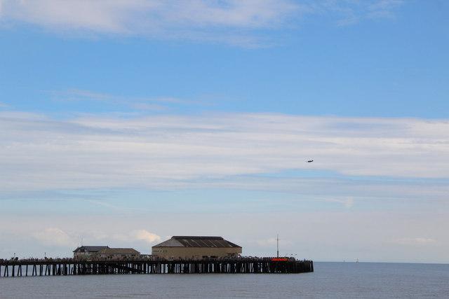 Spitfire over Clacton Pier, Essex