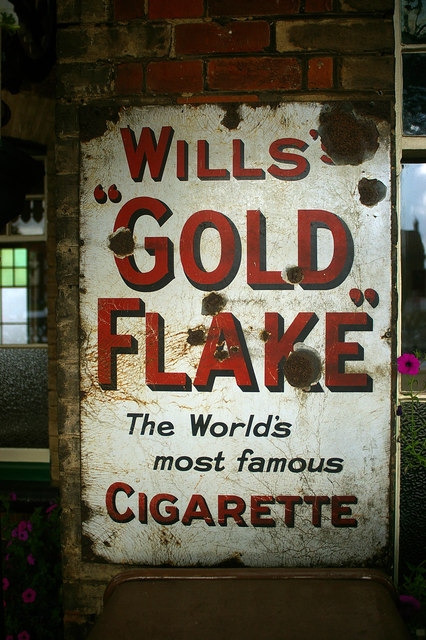 Cigarette advertisement, Sheringham NNR Station