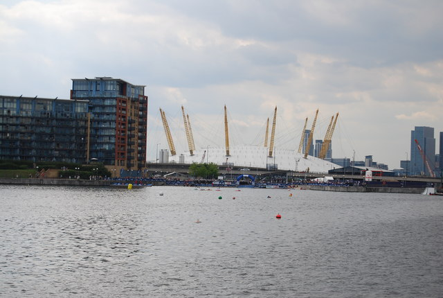 O2 Arena seen across Royal Victoria Dock