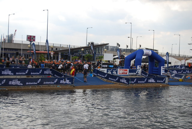 British Gas Swim mass start