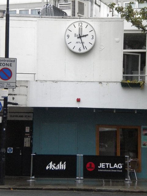 Clock, Cleveland Street W1