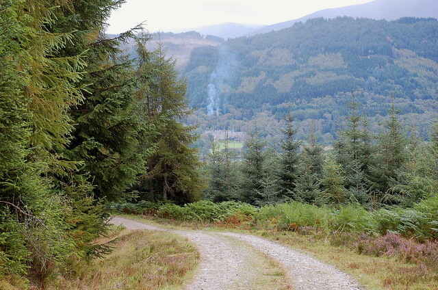 Forest road below Creag an Tuill