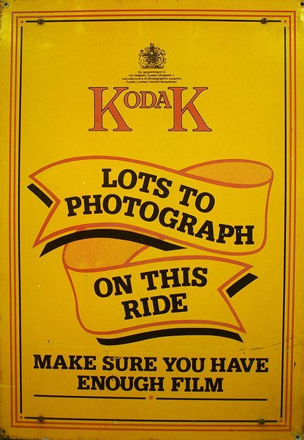 Kodak film advertisement, Sheringham NNR Station