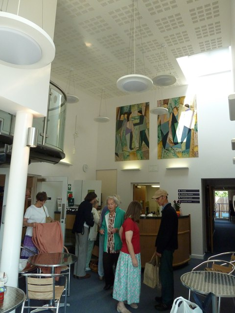 Inside the new café at Havant URC