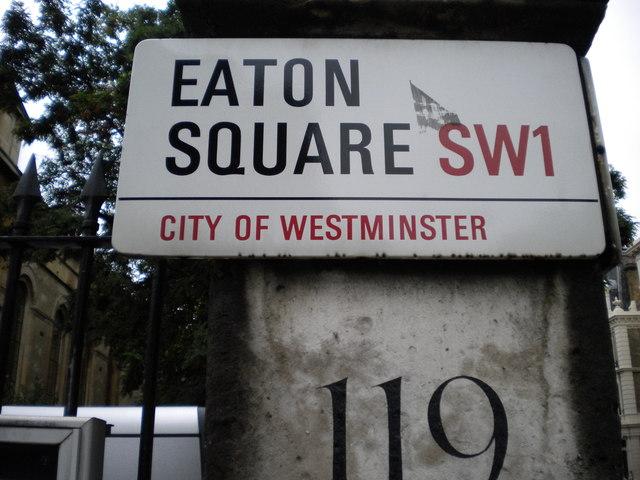 Street sign, Eaton Square SW1