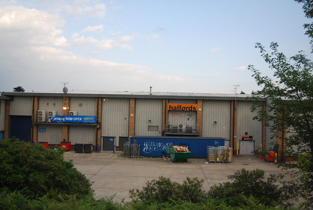 Halfords (back of) Maybury Retail Park