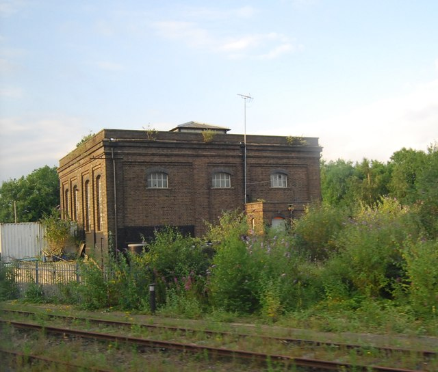 Derelict building by the railway
