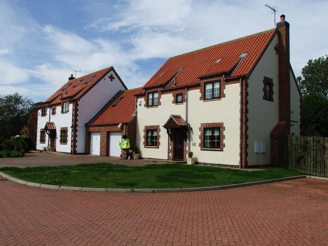 Houses on South Sea Mews, Flamborough