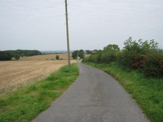 Southern end of bridleway on Leehall Lane