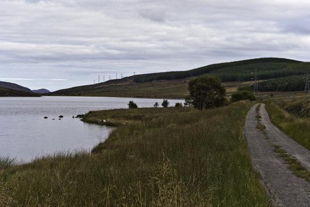 Road beside Loch Buidhe