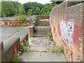 SE3337 : Steps at demolished Braim Wood School by Derek Harper