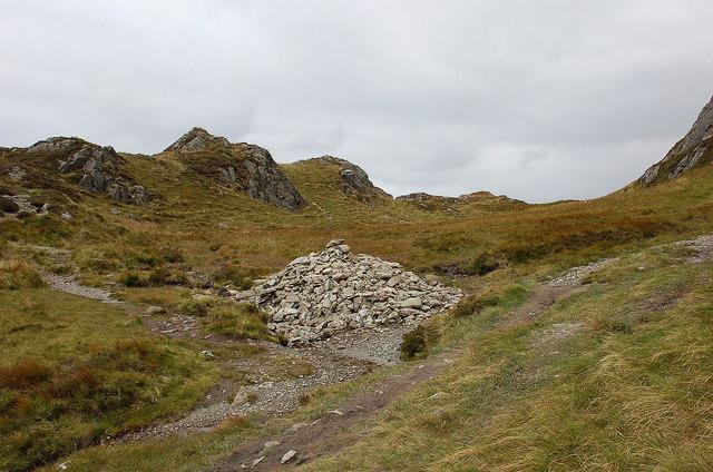 Cairn southwest of Ben Venue