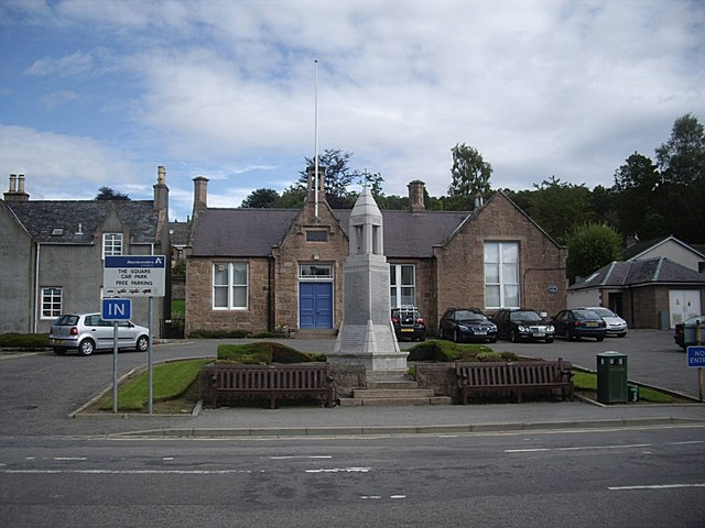 The Square car park, Banchory West