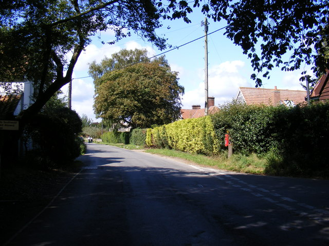 B1438 The Street, Walberswick and Palmers Lane Postbox