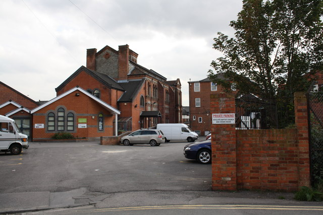 Carpark entrance on south side of Orts Road