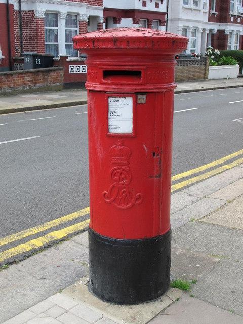 Edward VII postbox, Ivy Road / Cedar Road, NW2